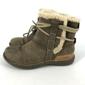 Ugg Boots Cove Womens Shoes Leather Strap Boots Si